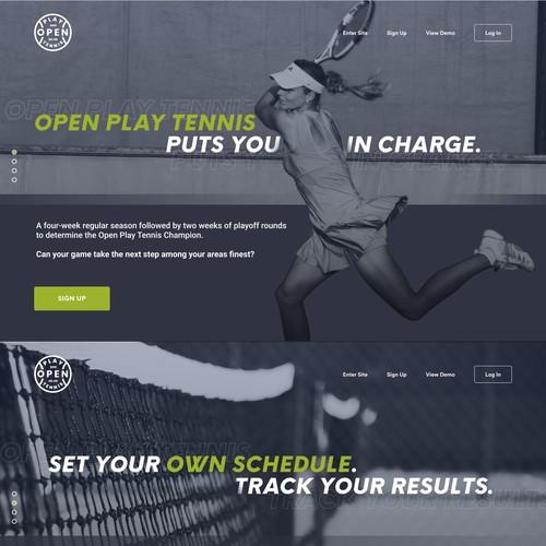 Open Play Tennis Slideshow landing page