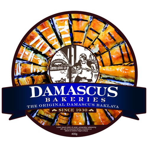 Damascus bakeries product label