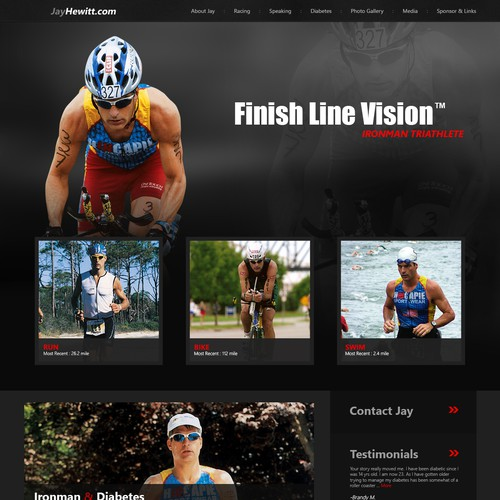 New website design wanted for Jay Hewitt Finish Line Vision