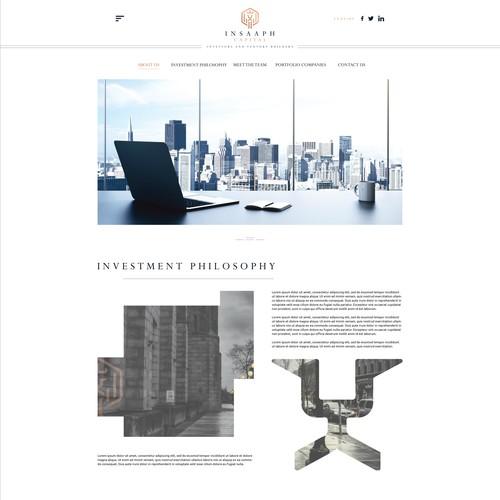 Website Design for Insaaph Investment Holdings