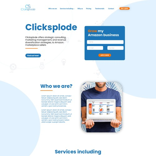 Diseño de Página web para clicksplode