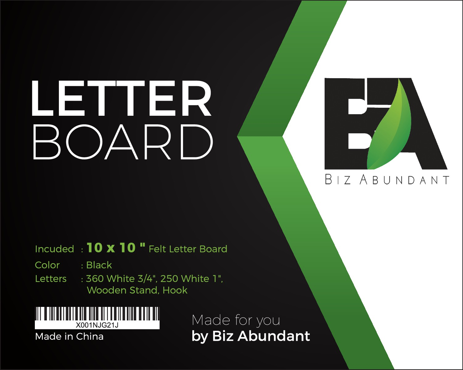 create a sleek label for felt letter board