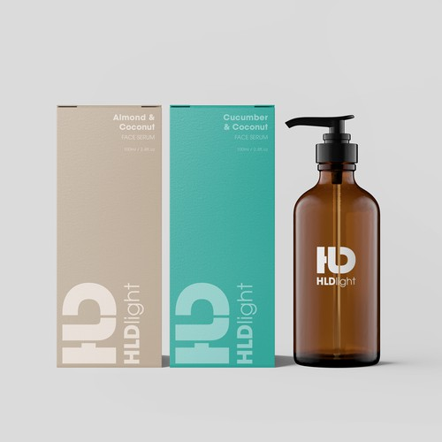 Bold logo and packaging design for HLD Light