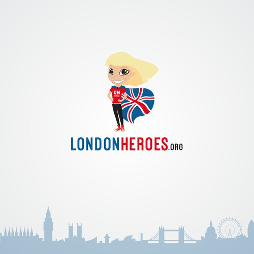 Character of a London hero as a logo for londonheroes.org