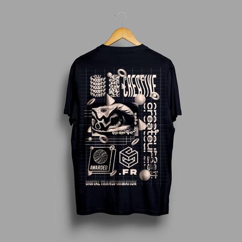 Createur2site kinetic t-shirt design concept