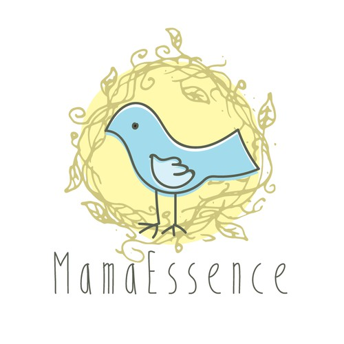 hand made logo for Mom & Baby brand