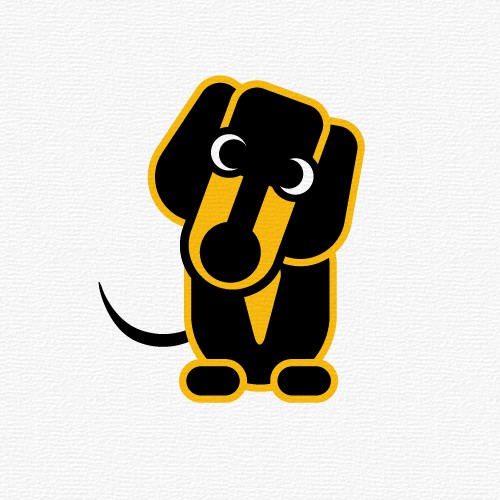 Dedastedly Dachshund mascot signage across a group of companies.