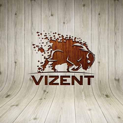 Vizent (buffalo/bison logo design)