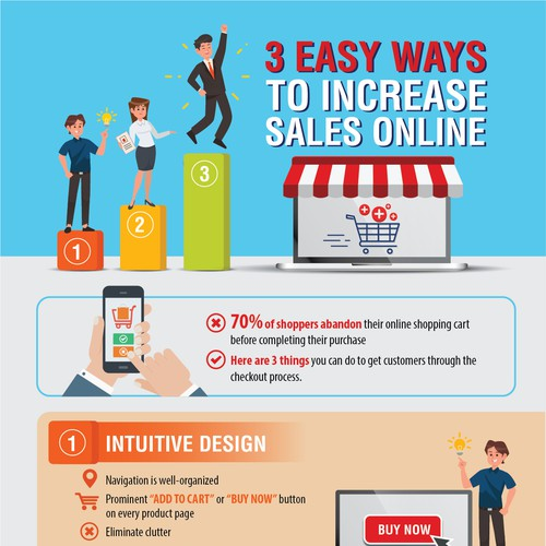 Infographic: 3 Easy Ways to Increase Sales Online