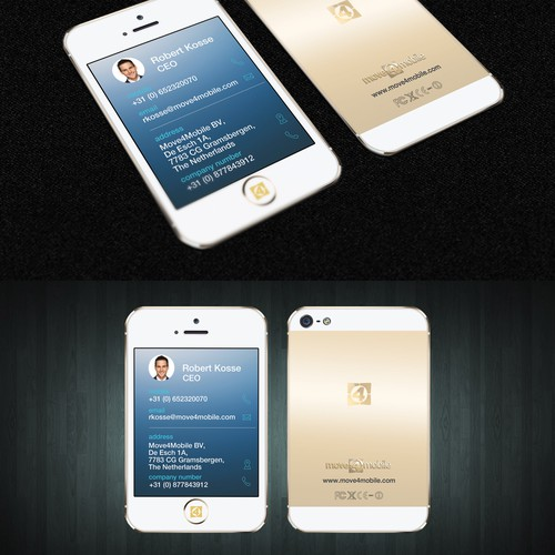 iPhone business card