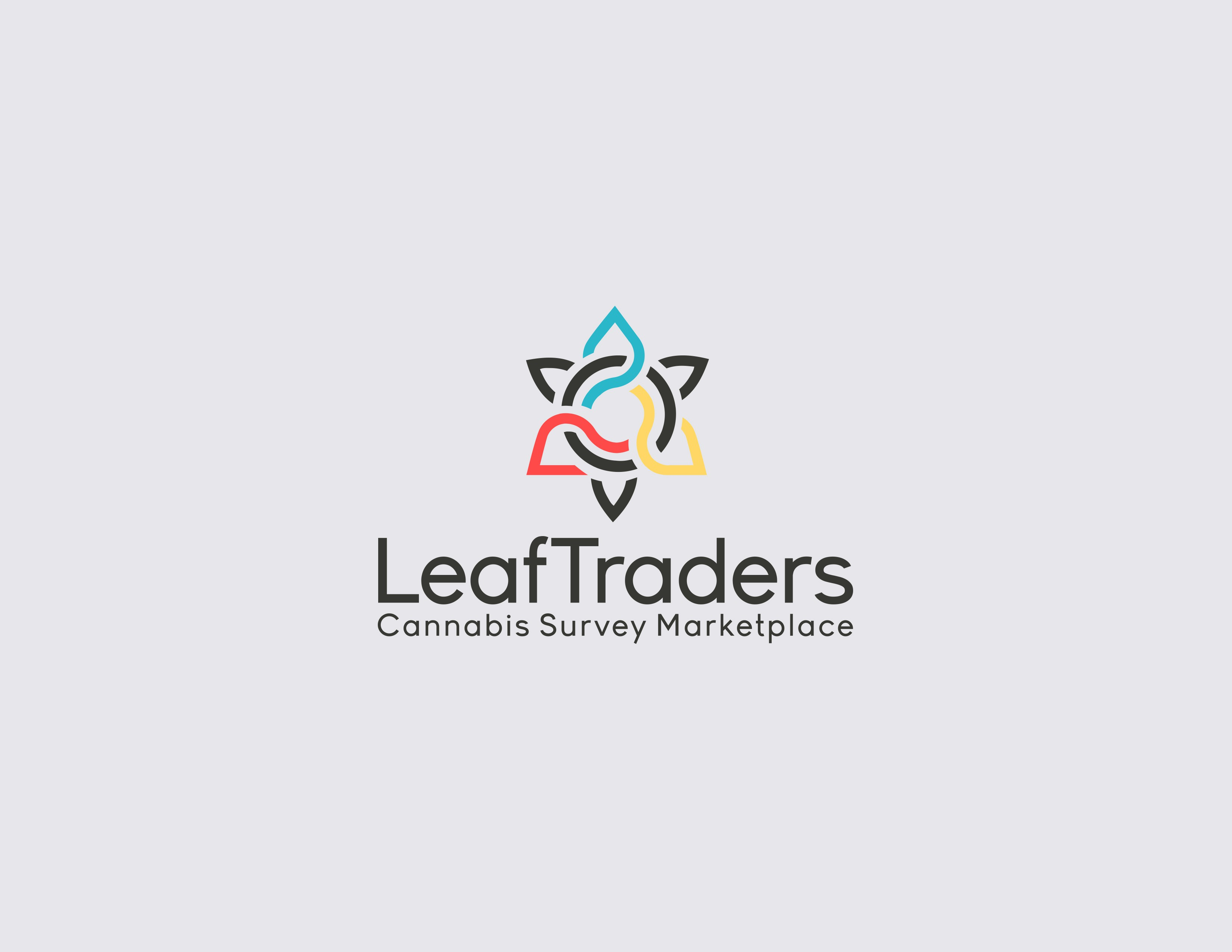 Design a fresh, new, and modern logo for Leaf Traders, a Cannabis Data Company Startup.