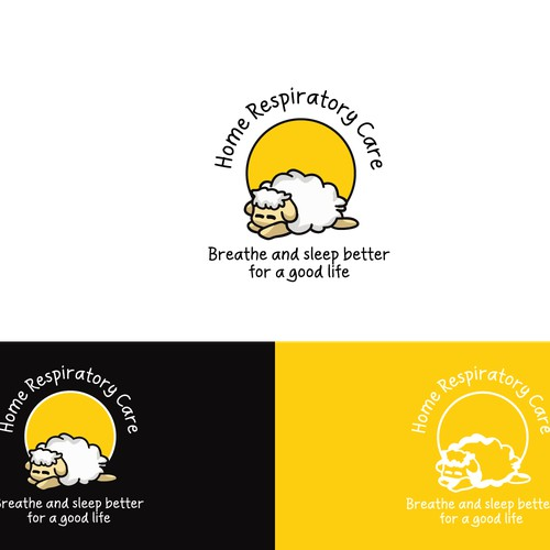 Comfy modern logo for caring and highly regarded sleep and respiratory therapy and equipment company