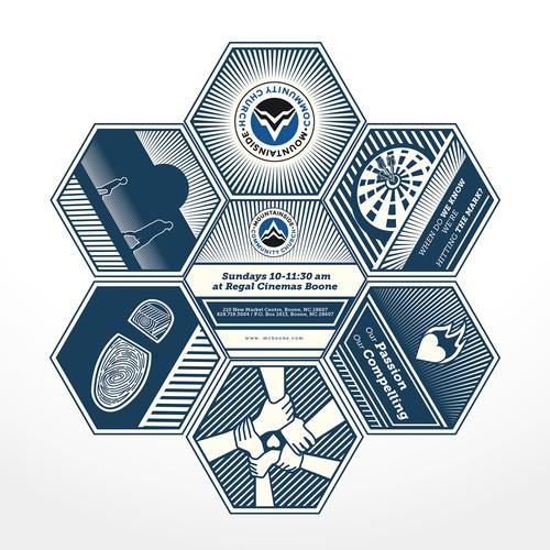 Hexagon Brochure Layout-Design