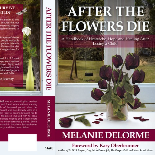 After the Flowers Die - Book Cover design
