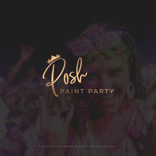 Logo Posh Paint Party