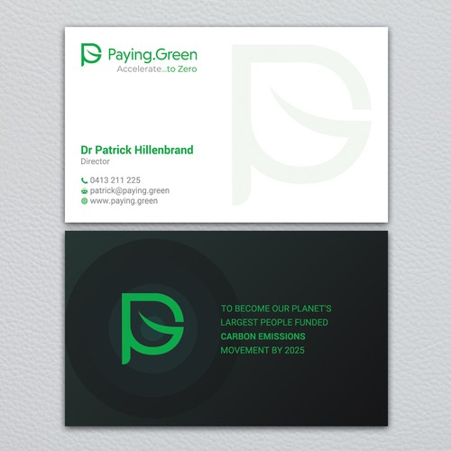 Exciting Environmental Brand Seeks a Creative Business Card Designer