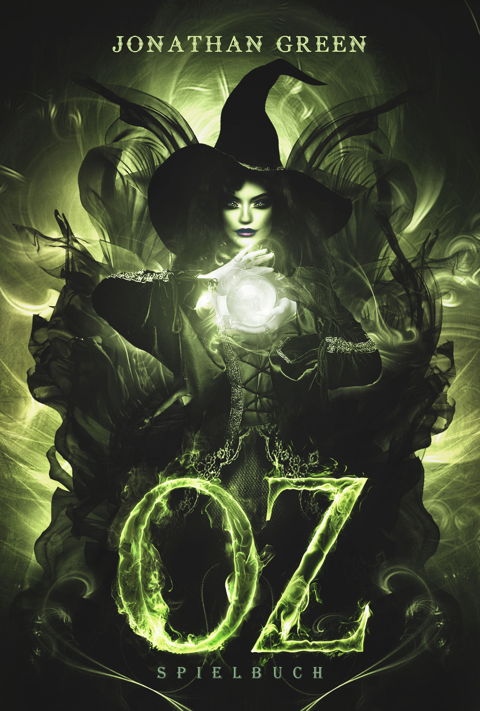 """Create an eye-catching cover for a game-book-adaptation of """"The Wizzard of Oz"""""""