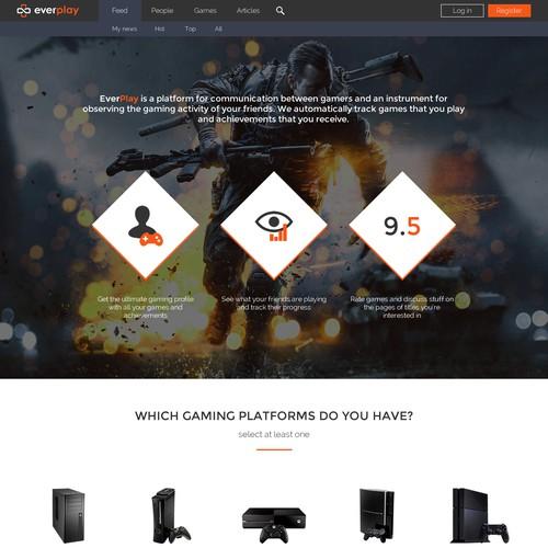 Gamers social network website