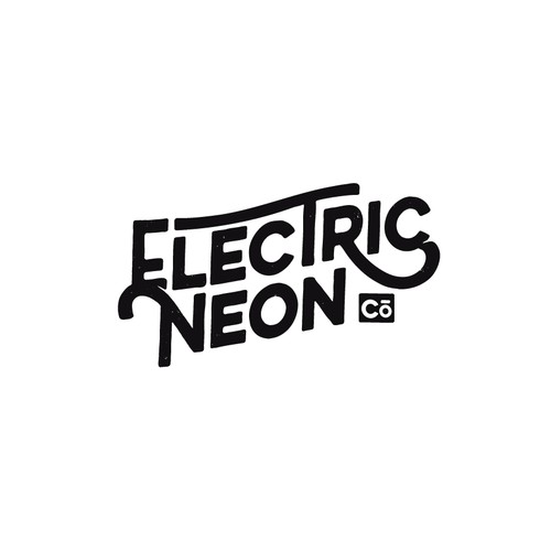 retro logo for neon company