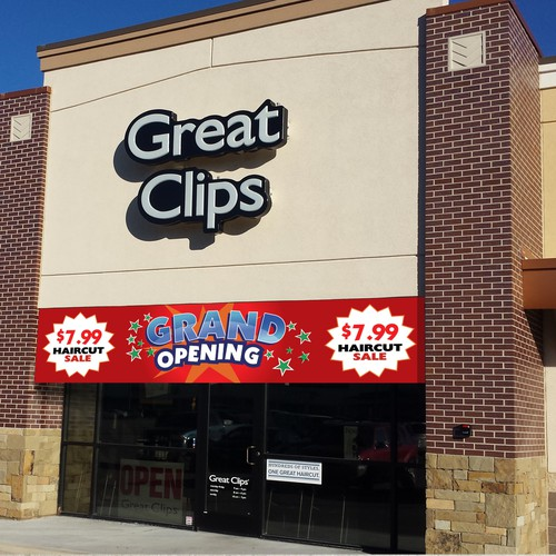 Grand Opening Banner Design for Retail Store Chain