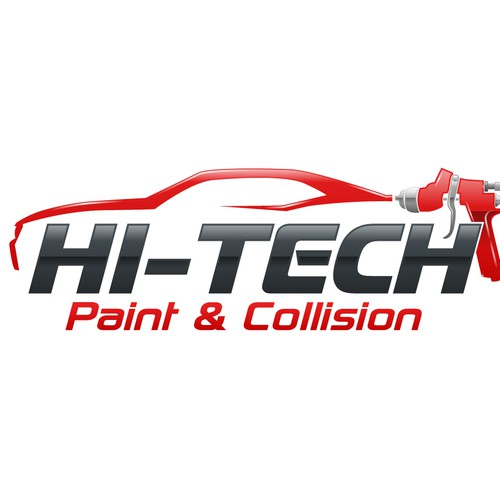 Fast stylish car-logo wanted for Hi-Tech Paint & Collision