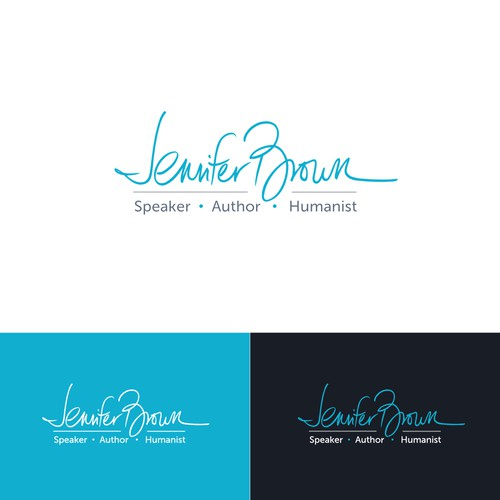 Typographic logo based on personal signature