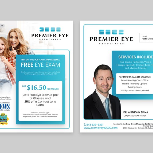 Postcard Design for Eye Specialists