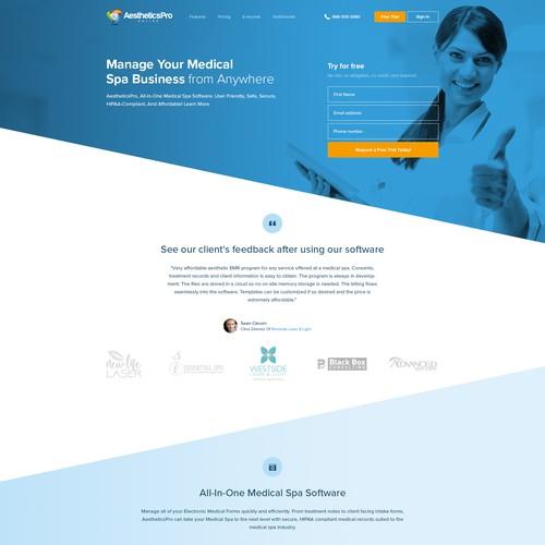 Landing Page Webdesign