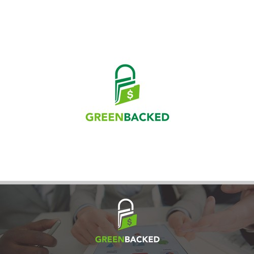 simple logo for Greenbacked