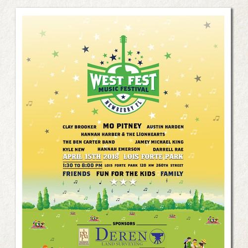 Flyer for West Fest Music Festival
