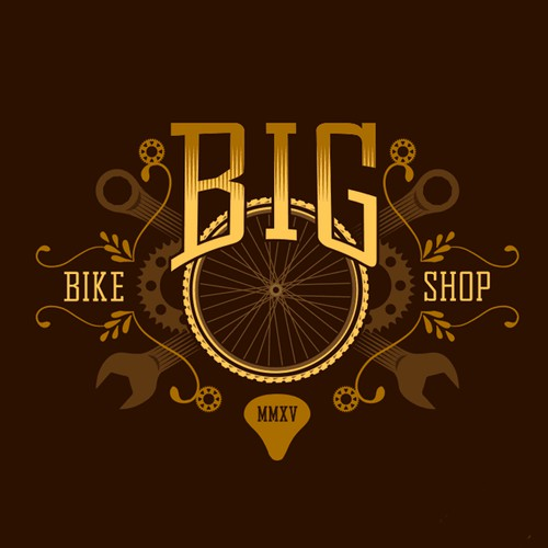 Vintage logo for bicycle shop