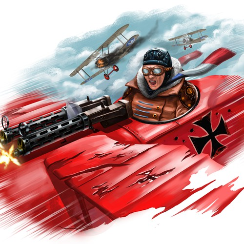 Red Baron concept tattoo