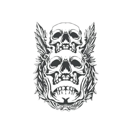 Skull design for t shirt at fashion house