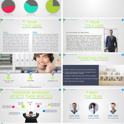 create a sales presentation deck for Global Practice Management firm