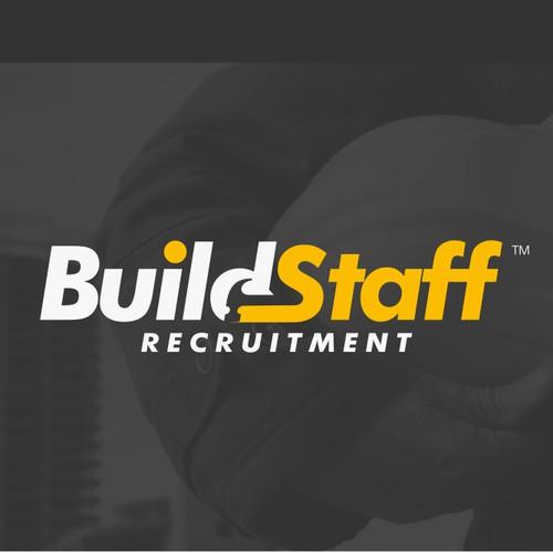 Buildstaff, Powerful Logo for recruitment company