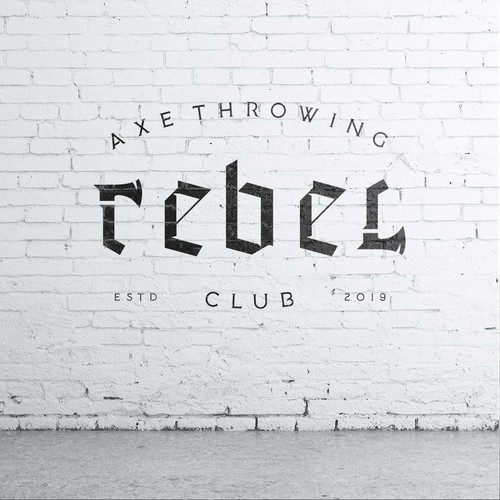 Rebel Axe Throwing Club Logo