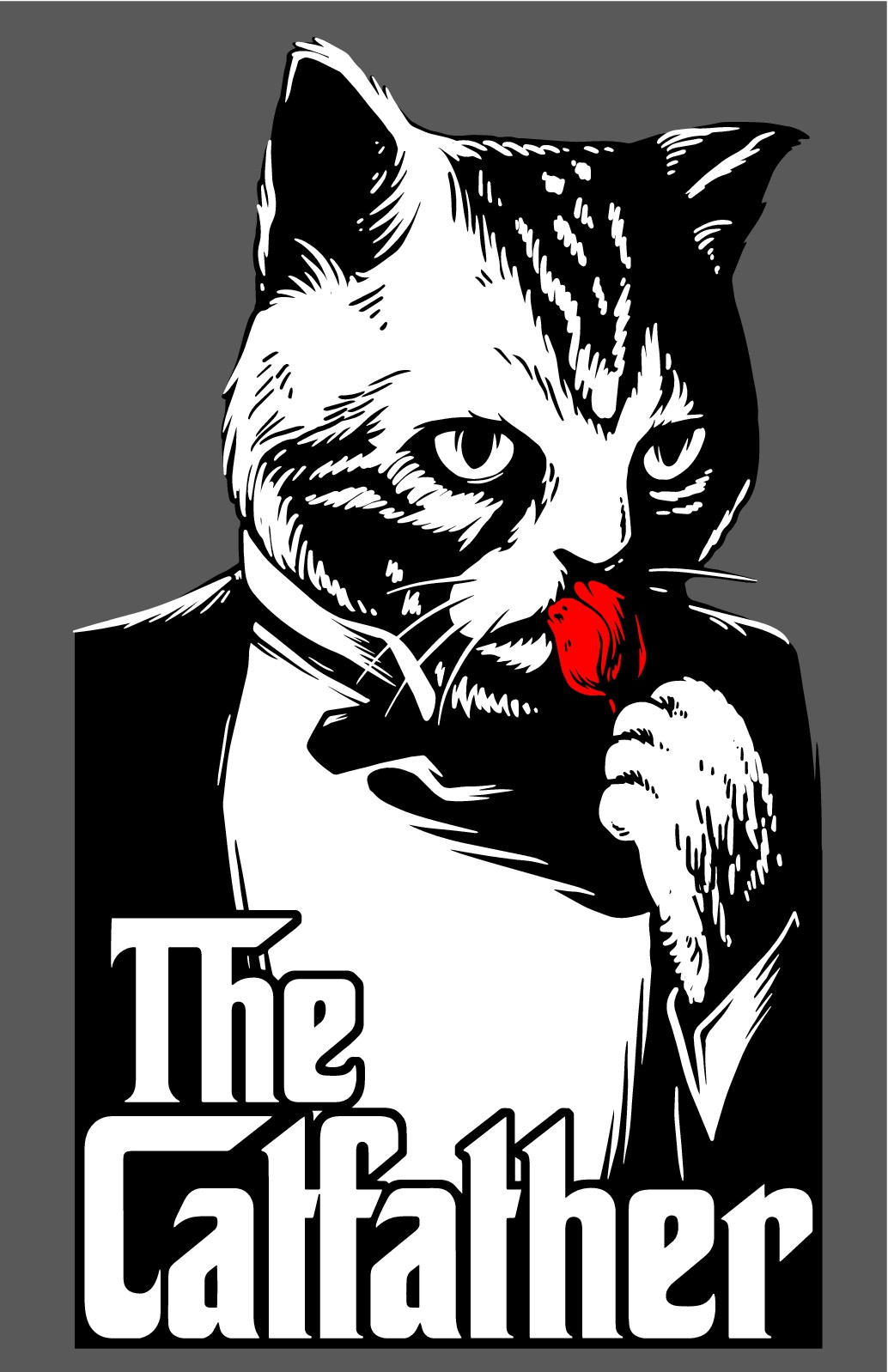 The CatFather (GodFather Cat Theme Shirt Design)