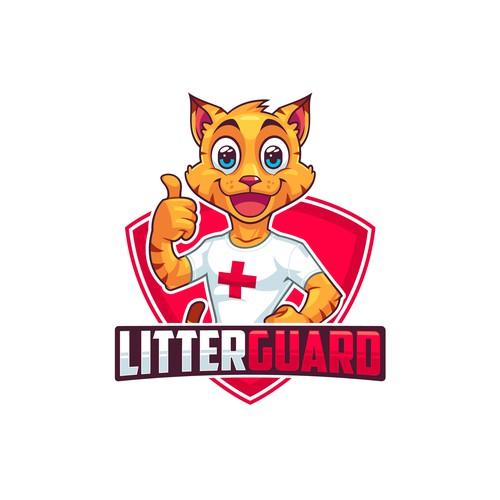 Fun logo logo mascot design for cat litter box product