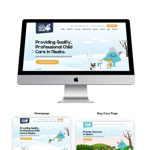 Kids Club Website Design