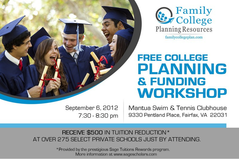 postcard or flyer for Family College Planning Resources
