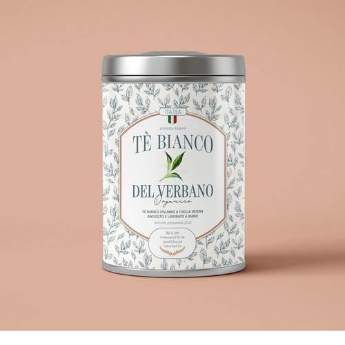 tin tea label