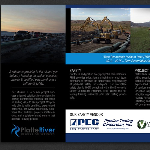 Brochure design for oil & gas industryr inspection services company