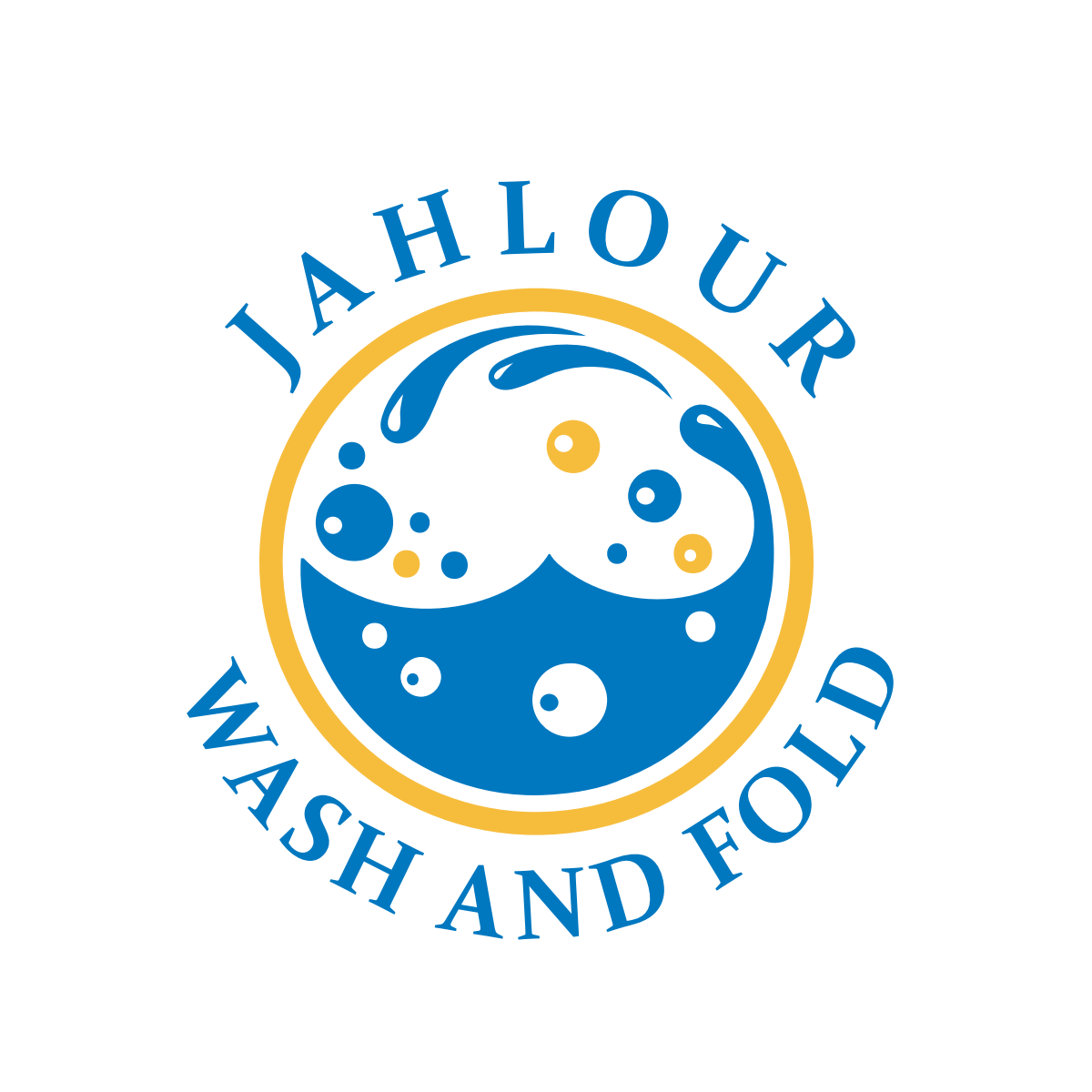 Create a logo and business card for a laundromat.