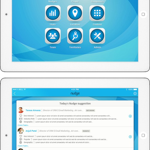 Sales mobile app initial design concept