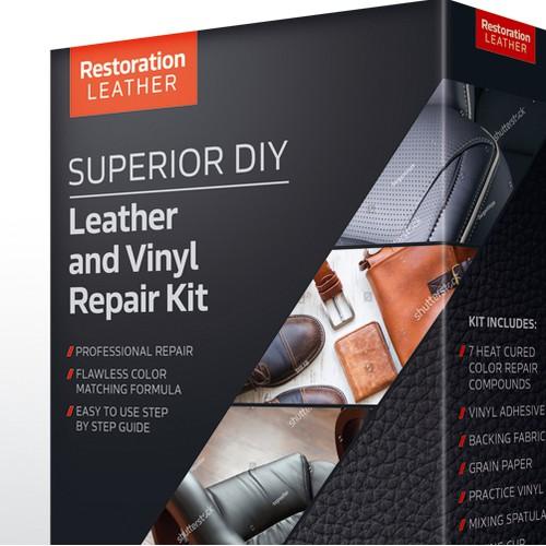 Leather and Vinyl Repair Kit - Box design