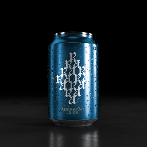 Calligraphic Beer Can Label