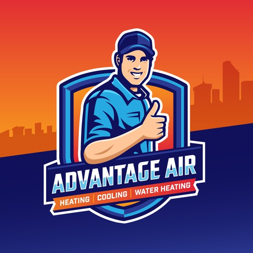 Logo for heating and air conditioning company