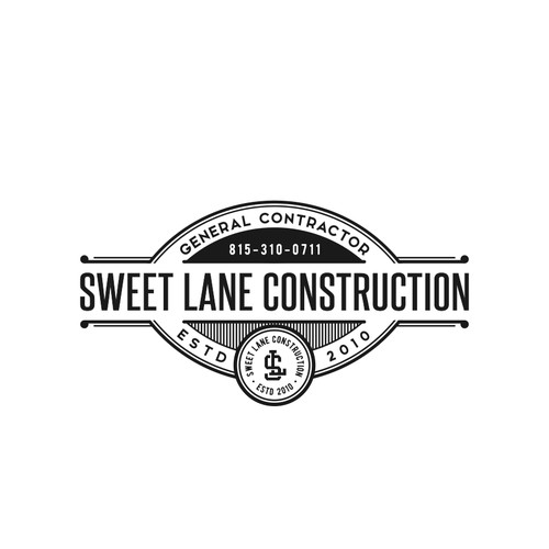 Vintage Logo concept for Sweet Lane Construction
