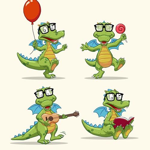 nerdy dragon