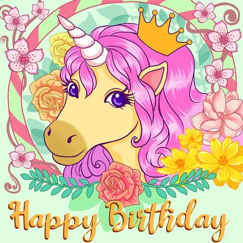 Unicorn Birthday Box
